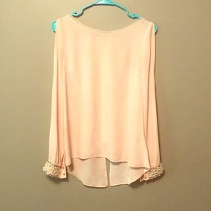 Guess NWOT blouse / beaded cuffs